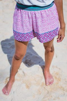 The Brittany Printed Shorts in Pink | Entourage Clothing & Gifts #shorts #covetme