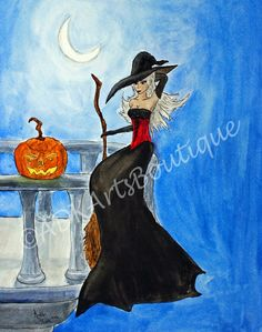 The burgundy lady prepares for the Halloween ball. by Florence on Etsy