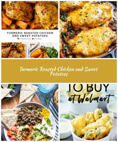 Turmeric Roasted Chicken & Sweet Potatoes is the most flavorful one pot meal! Caramelized sweet potatoes and juicy roasted chicken come together to make a healthy dinner recipe. #roastedchickenrecipe #sweetpotatorecipe #chickenandpotatoesrecipe #onepotrecipe #onepotmeal #healthychickenrecipe #healthydinneridea diet recipes Turmeric Roasted Chicken and Sweet Potatoes