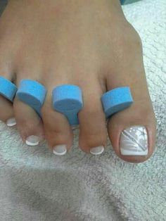Pretty Pedicures, Pretty Toe Nails, Cute Toe Nails, Sexy Nails, Pretty Nail Art, Gorgeous Nails, Manicure Nail Designs, Pedicure Designs, Pedicure Nail Art