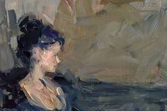 Black Onyx, Study, painting by artist Sally Cummings Shisler