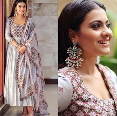 SPOTTED : looks evergreen gorgeous in a suit set. Love this look? Salwar Designs, Kurti Designs Party Wear, Pakistani Dresses, Indian Dresses, Indian Outfits, Indian Look, Dress Indian Style, Designer Anarkali, Indian Attire