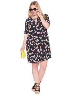 Cutout Easy Dress | Women's Plus Size Tops | ELOQUII