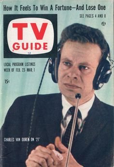 "Charles Van Doren of ""Twenty One""  February 23-March 1 1957"