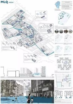 The jury gladly received the students work After a physical meeting , the jury unanimously selected three proposals for the first, second and third prizes , as well as 10 nonhierarchical mentions of honor For the winners selection, the jury took in - a Villa Architecture, Architecture Drawings, Architecture Presentation Board, Presentation Layout, Presentation Boards, Urban Landscape, Landscape Design, Parque Linear, Planer Layout