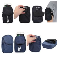 Wallet Style Smart phone Sport Running Armband Holder Arm Band Bag Case For Samsung Galaxy Note 2 3 4 5 7 / Grand Max G7200
