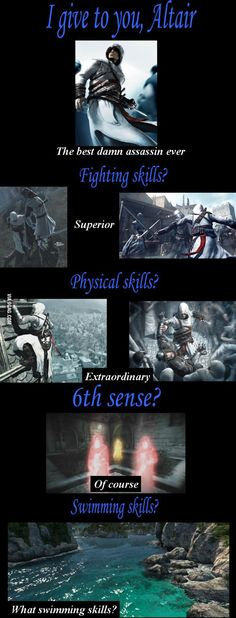 Altair's logic, so true. <<<< Then again, who needs to swim when you live in Syria?