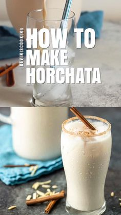 Easy Horchata Recipe, How To Make Horchata, Homemade Horchata, Mexican Horchata, Mexican Drinks, Rice Drink Recipe, Drink Recipes, Agua Horchata, Non Alcoholic Drinks