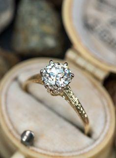Solitaire Engagement, Vintage Engagement Rings, European Cut Diamonds, Diamond Jewelry, Diamond Cuts, Wedding Rings, Diamond Jewellery, Vintage Promise Rings, Wedding Ring