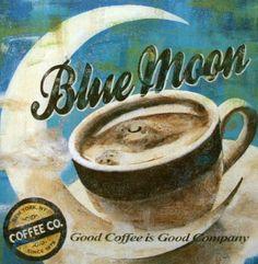 Maria-Donovan-Blue-Moon-Coffee-Fertig-Bild-30x30-Wandbild-Cafe-Kueche
