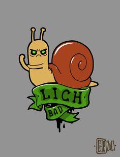 Lich snail tattoo sketch by ~Chegevarko on deviantART