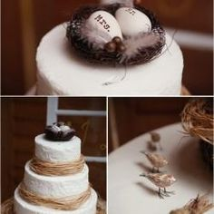 Birds nest cake topper, great for an Easter wedding theme