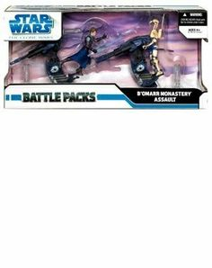 Star Wars: The Clone Wars Battle Packs - B'omarr Monastery Assault by Hasbro Toys. $19.95. Anakin begins the difficult ascent up a cliff with battle droids firing down on him and droid-pilote. He leaps into the air to take command of a STAP and dispatches battle droids with his lightsaber, cl. Jabba the Hutt's kidnapped son is being held in a B'omarr monastery built on top of a sheer cliff. Casualties are mounting, so Anakin makes a daring move. This set of 2 Star War...