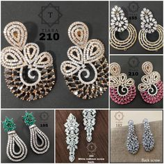 #earrings #zircon #danglers #highquality #richlook  #Beautiful #lovely #elegant #festive #wedding #trendy #designer #exclusive #statement #latest #design #ethnic #traditional #modern #indian #divaazfashionjewellery available Grab them fast 😍😍 Inbox for orders & more details plz Or mail at npsales421@gmail.com Festive, Ethnic, Crochet Necklace, Indian, Traditional, Elegant, Detail, Modern, Earrings