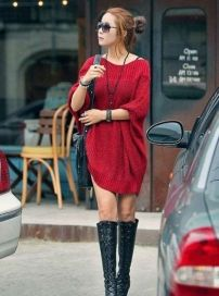 Stylish Hooded High Low Women Pullover Oversized Sweater - BuyTrends.com