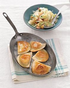 These tasty dishes bring out the intense flavor of the Polish dumplings.