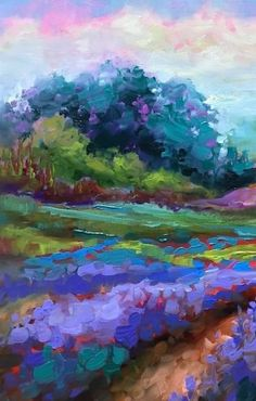 Lavender at First Sight - Nancy Medina Art Videos and Classes, painting by artist Nancy Medina