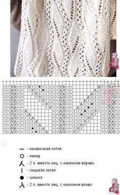 Lace Knitting Stitches, Lace Knitting Patterns, Knitting Charts, Lace Patterns, Knitting Designs, Baby Knitting, Crochet Wool, Loom Knitting Patterns, Knitwear Fashion