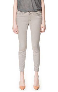 PEARL GREY JEANS - Jeans - Woman - ZARA United Kingdom