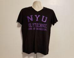 e4325578b99 Details about NYU New York University Polytechnic School of Engineering  Womens M Black TShirt