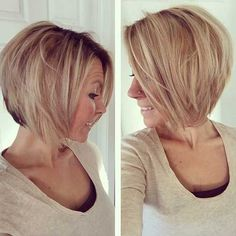 """Fine hair. If you accept accomplished hair, ask your stylist for a """"graduated bob,"""" which are ample layers cut beneath in the back, best in the advanced that accord beard bare anatomy and acme at the crown. Related PostsBest Of 10 Short Hairstyles For Fine HairEasy-to-Style Graduated Bob for Fine HairNew Hairstyles for Every OccasionSexy …"""