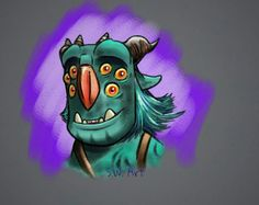 Blinky from Trollhunters! Fanart by the talented DragonWhisperer23 on Instagram and DeviantART! Gotta check her out!!!! #trollhunters #blinkytroll #dreamworks #netflix #trolls #sketch #drawing #draw #art #digitalart