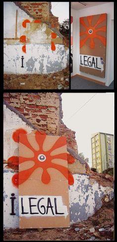 """Suso33: 'I-legal'  """"i-legal,a-legal, basura, arte, calle, galería, presencia, ausencia, esencia, conflicto, duda, vacío, lleno, cambio?, tiempo, conTexto, mancha, pintura, poesía, sin texto…"""""""