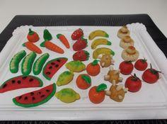 Frutitas de mazapán para #Mycook http://www.mycook.es/receta/frutitas-de-mazapan/