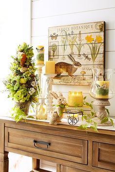 Pier 1's vintage-inspired Le Jardin Botanique Wall Decor makes a fitting backdrop for your Easter display, but you can also leave it up all year long to serve as a reminder of everything that is fresh and wonderful about spring.
