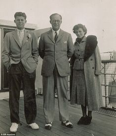 Flashback: This photo shows a young JFK (left) with his father (center) and a cousin on a ...