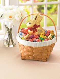 Lindt themed easter basket for a gardening guru easter lindt lindt easter basket inspiration with lindor eggs negle Gallery