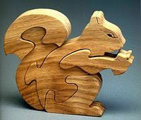 Squirrel scroll saw pattern. Animal Puzzles for the Scroll Saw.