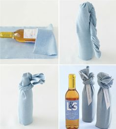 Wine Wedding Favor DIY it: How to wrap up a wine bottle party favor!DIY it: How to wrap up a wine bottle party favor! Creative Gift Wrapping, Wrapping Ideas, Wrapping Gifts, Wine Wedding Favors, Party Favors, Diy Wedding, Wedding Gifts, Furoshiki Wrapping, Wrapped Wine Bottles