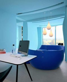 Gorgeous Office Interior Design Ideas ? Azure Office - As a place for working, the office decoration should be able to awaken the officers spirit, it should be more attractive and enjoyable in order to we don?t get bore in staying in the office. To c