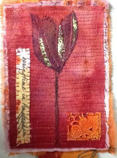 Ineke Berlyn's second page of art textile book.