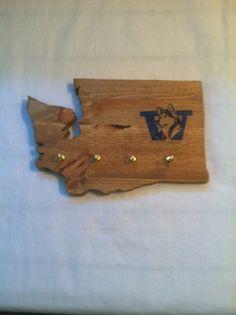 Washington Huskies Key Holder by evangalinemae