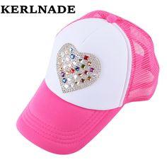 new fashion children character lovely mesh cap solid color beauty net summer sun hats boy girl kids sports casquette brand gorra