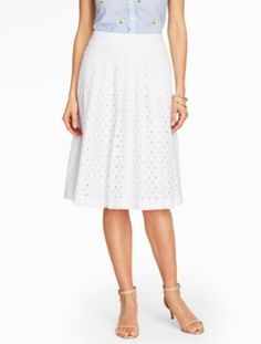 Eyelet Pleated Skirt - Talbots