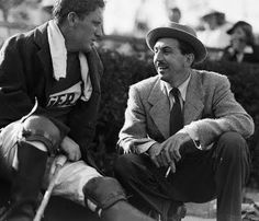 Spencer Tracy and Walt Disney at Polo Game