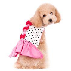 Pink Bow Dress #puppy #dress #pink http://www.beescorner.com/bow-dot-pink-dress/