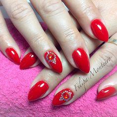 Amazing Glam Spring Nail Art With Swarovski