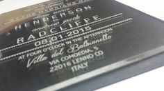Custom Acrylic Invitation or Menu Engraved by BlueAuburn on Etsy