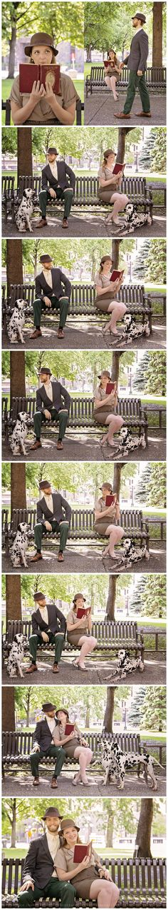 A Disney inspired engagement session with Roger, Anita, Pongo and Perdita... it can only be one thing... 101 Dalmatians!
