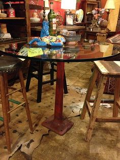 The Tables At Durango Are Made Out Of The Most Interesting Of Things.. #. Industrial  FurnitureRepurposed ...