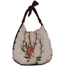 Jodi Hobo Bag Vintage Chenille & Leather #fashion #handbag #leather #boho