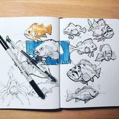 Sketch Book Sketch by Alex Hagelis - Sketchbook Drawings, Sketchbook Pages, Drawing Sketches, Art Drawings, Moleskine Sketchbook, Sketchbook Project, Sketchbook Ideas, Drawing Faces, Sketch Art