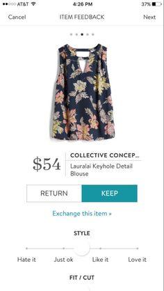 Collective Concepts Lauralai Keyhole Detail blouse