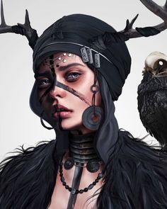 "Drawing by Laura H. Rubin inspired by the upcoming Game ""Assassins Creed Valhalla"" Digital Painting Tutorials, Art Tutorials, Art Beat, Skin Brushing, Speed Paint, Aesthetic Art, Insta Art, Game Art, Amazing Art"