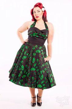Hellbunny Green Zombie Dress