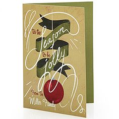 'Tis The Season To Be Jolly - Personalized Christmas Cards. This is GENIUS! You'll save SOOO much time and you won't get hand cramps from writing individual messages in all your cards!!